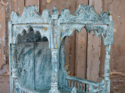 Late 19th Century Shrine Pale blue paint tones, Gujarat <b>SOLD<b>